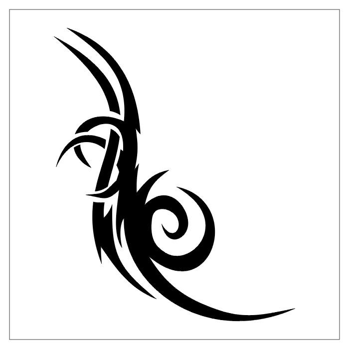 black and white tattoo design img1127