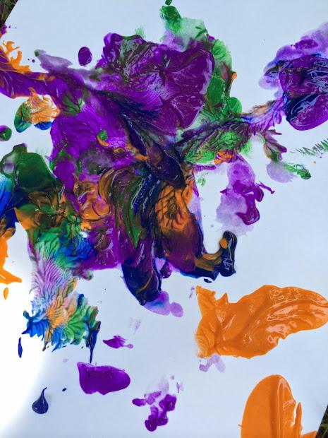 Balloon Paint Splatter Art