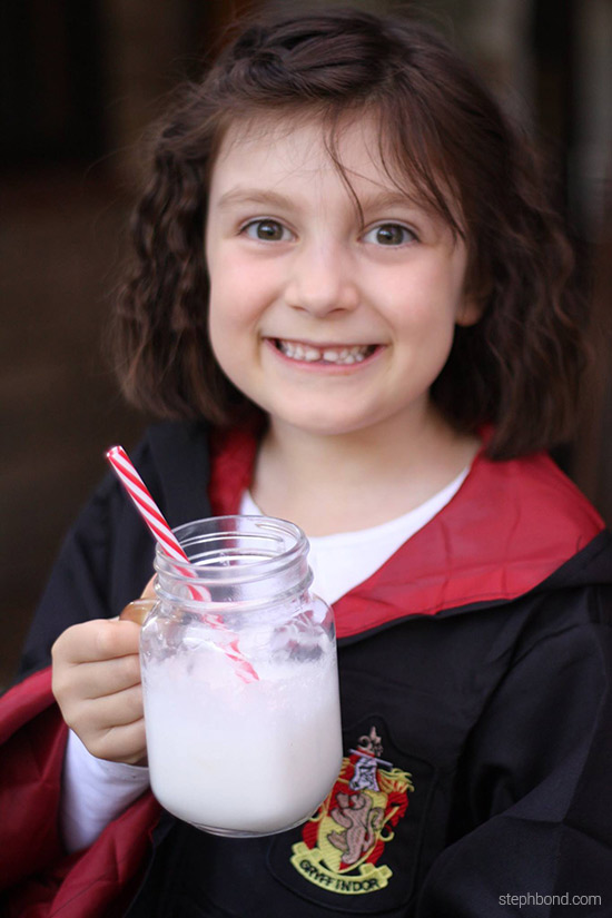 Harry Potter Butter Beer drinks for birthday party
