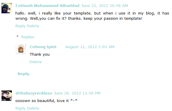 comments html template - how to add comment reply threaded comment on customized