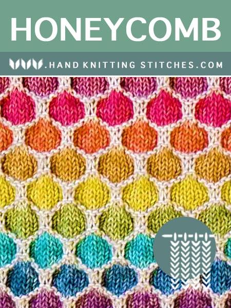 The Art of Hand Knitting - Honeycomb Slip Stitch Pattern #knitting #knittingpatterns #knitters