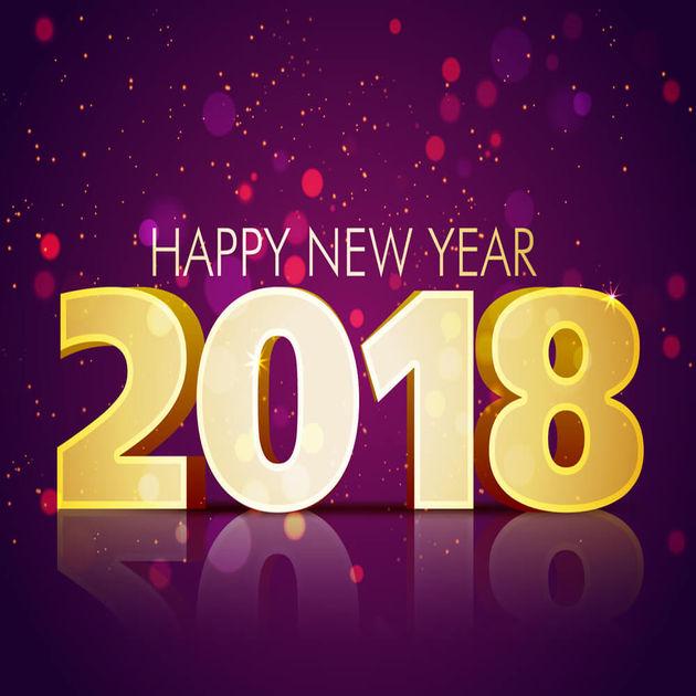 Selamat tahun baru 2018 dengan azam yang baru
