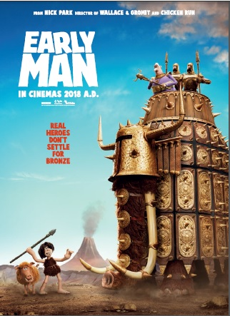 "Early Man movie poster with quote ""Real Heroes don't settle for bronze"""