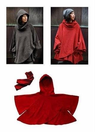 patrón gratis de poncho manta