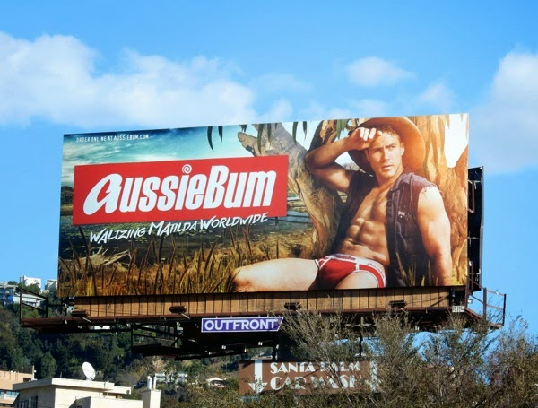 AussieBum underwear Waltzing Matilda Worldwide billboard