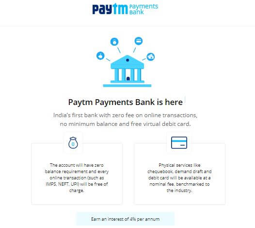 Paytm has Finally Opened its Payments Bank for everyone in India