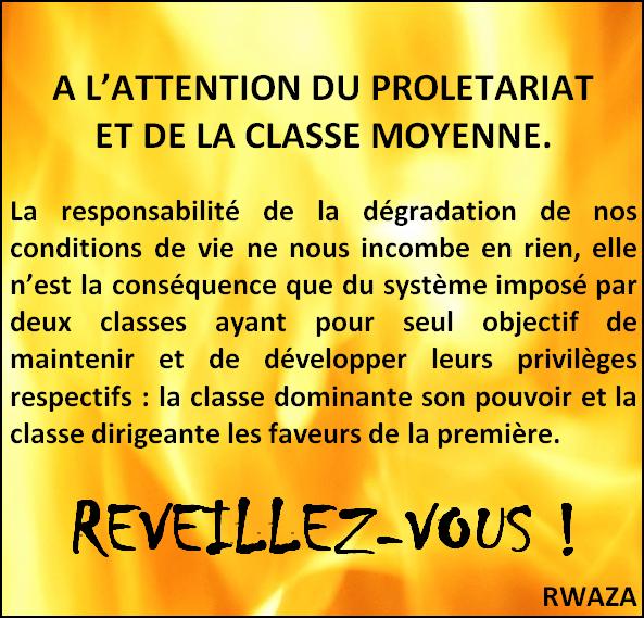 RWAZA: Distinction entre classe dominante et dirigeante.
