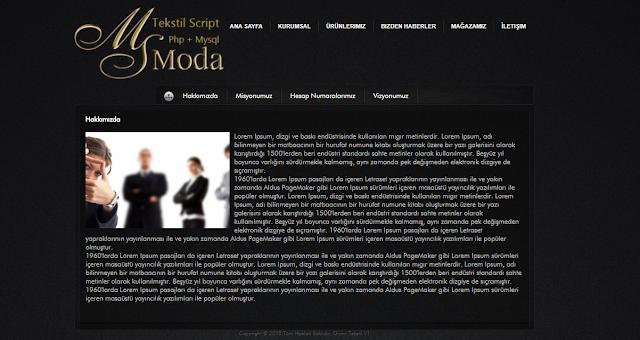 Moda ve Tekstil Scripti Hakkımızda Sayfası