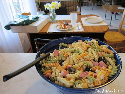 Pasta Salad with Dressing and Olives