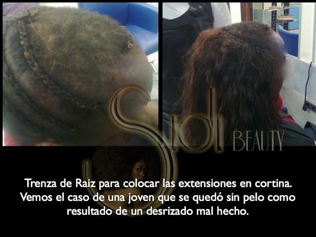 extensiones de pelo en Pelququería Sidi