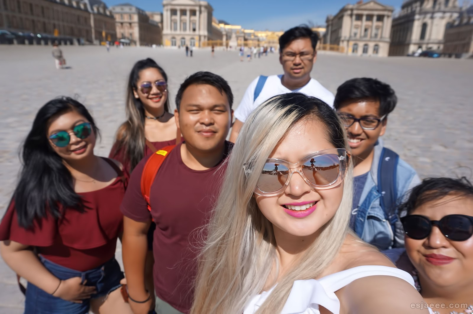 Obligatory family picture in Versailles