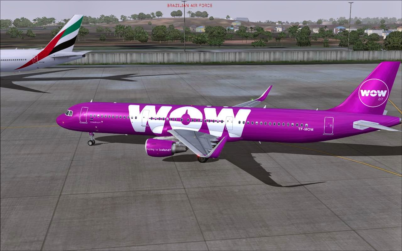 FS2004 REPAINTS: PROJECT AIRBUS A321-200SL WOW air TF-MOM
