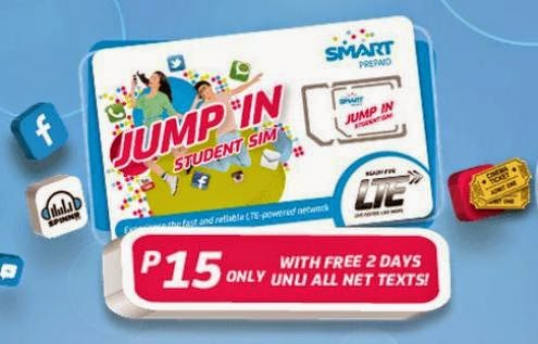 Smart Jump In LTE Prepaid SIM For Only 15 Pesos