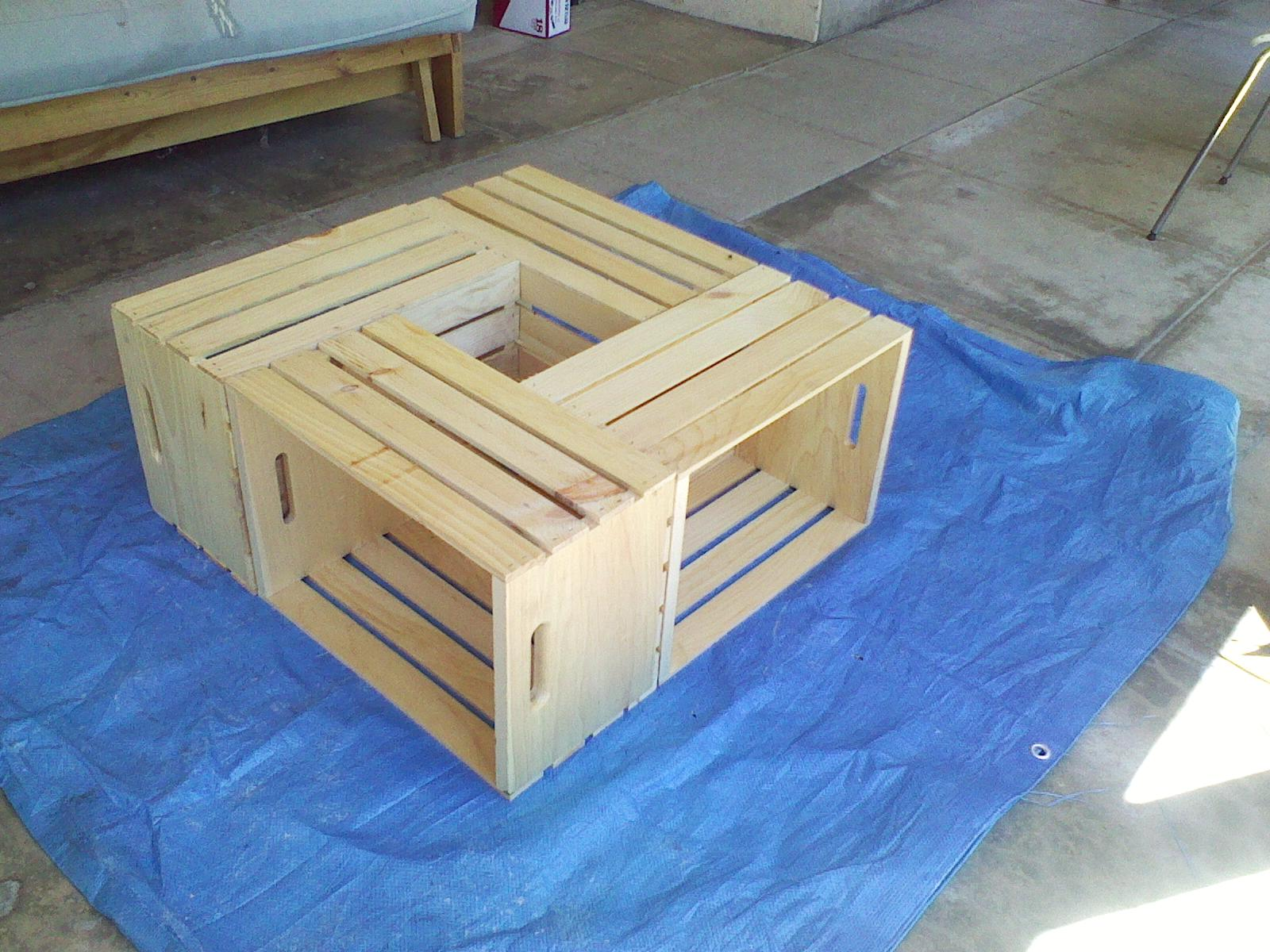 ...but, I digress...: Wooden Crate Coffee Table - Day 2