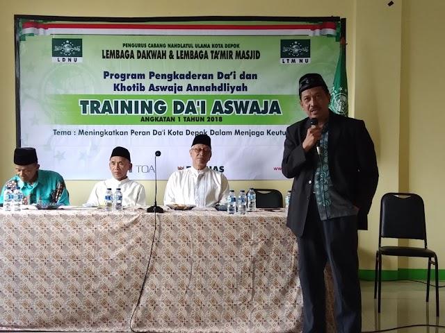 LDNU Depok Gelar Pelatihan Da'i Aswaja