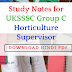 Download PDF -Study Notes for UKSSSC Group C Horticulture Supervisor