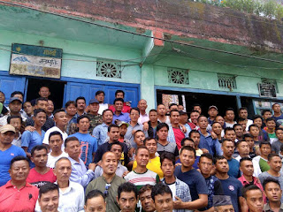 Binay Tamang Anit Thapa supporter in Mungpoo
