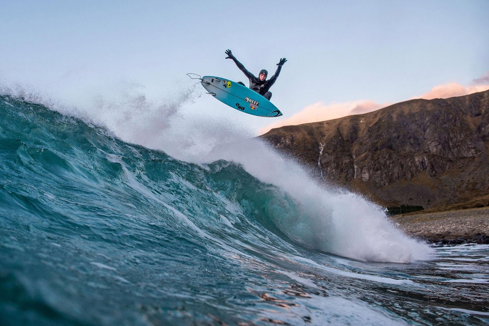 mick fanning surfing norway chasing the shot aerial