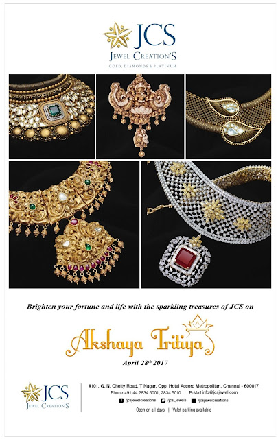 JCS | Akshaya Tritiya Gold and Jewellery Offers @Chennai | April /May 2017 discount offers