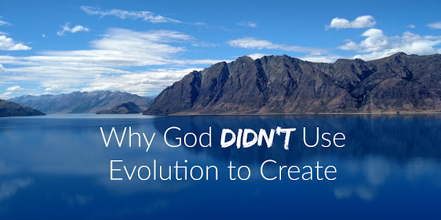 God doesn't need mistakes and mutations and millions of years to create