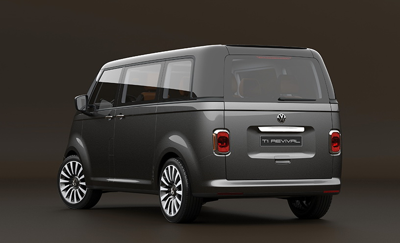 vw t1 microbus revival concept envisioned on t6 platform carscoops. Black Bedroom Furniture Sets. Home Design Ideas