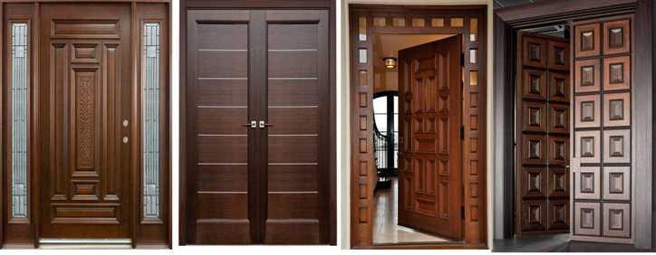 Pintu Minimalis Untuk Rumah Dari Bahan Kayu Kamper