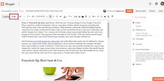 cara menghapus link gambar di artikel blog