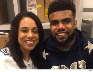 Ezekiel Elliott And Mom Twitter