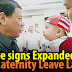 BREAKING: Duterte signs expanded Maternity Leave Law