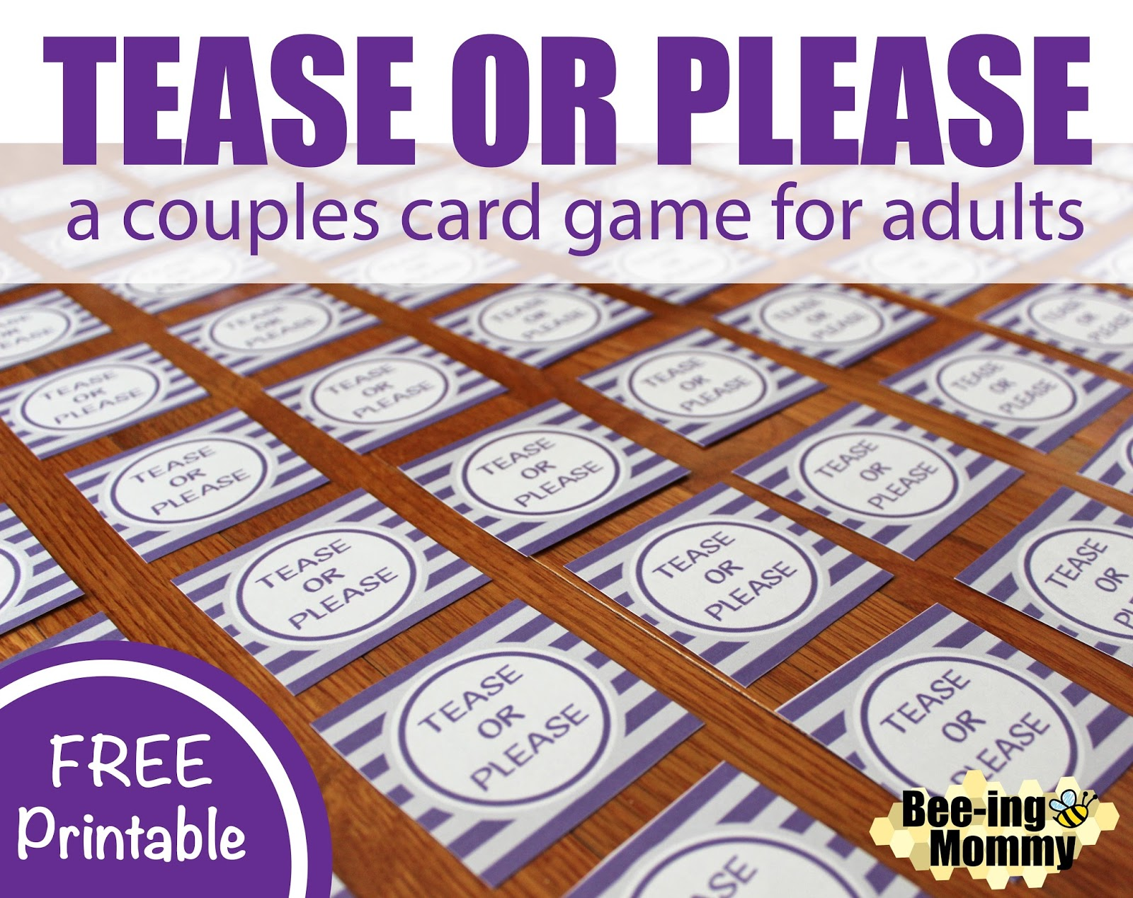 Couples Card Game Tease Or Please Couples Card Game Tease Or Please Homemade