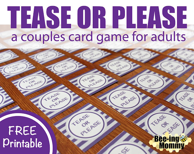 Tease Or Please A Couples Card Game For Adults