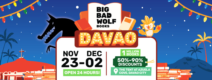 Big Bad Wolf Book Sale in Davao this November 23 to Dec. 2, 2018
