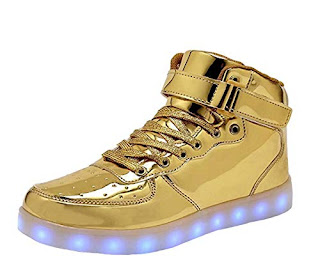 LED Light Up Shoes USB Flashing Sneakers For Toddler Kids Boots-32(gold)  2019 32a9887f2