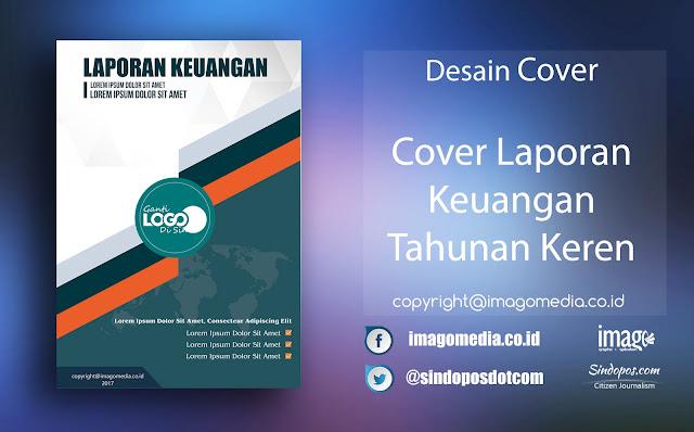 Download Template Desain Cover Laporan Keuangan Tahunan Kreatif Keren