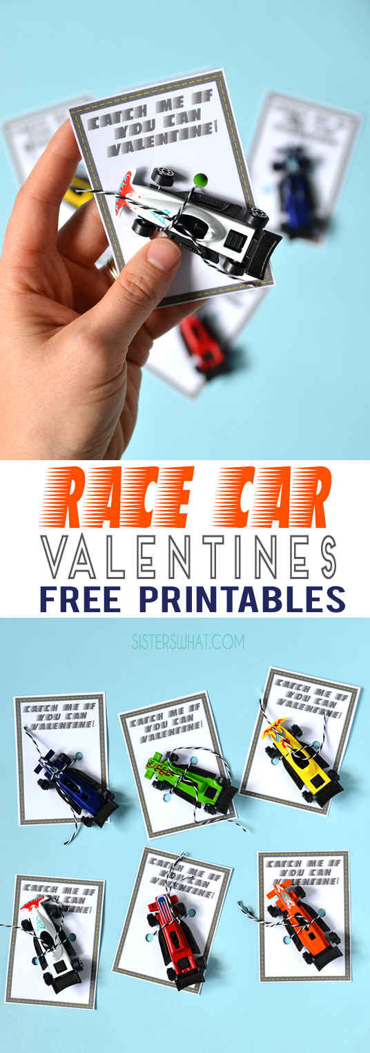 Car printable for a valentine party or school valentine printable