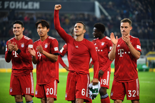 Bayern Munich celebrating