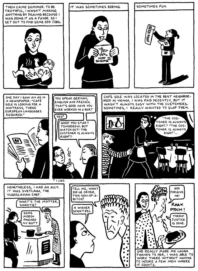 Read Chapter 8 - The Croissant, page 70, from Marjane Satrapi's Persepolis 2 - The Story of a Return