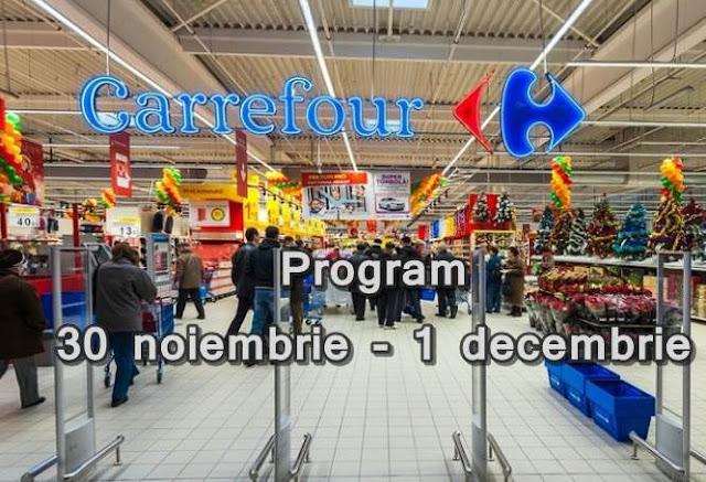 program carrefour auchan cora lidl kaufland 30 noiembrie 1 decembrie 2017