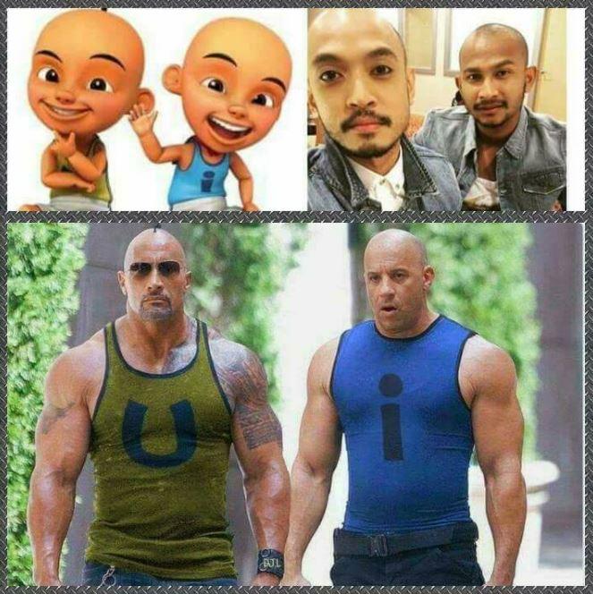 3 Orang ini ternyata mirip banget dengan karakter di kartun Upin Ipin