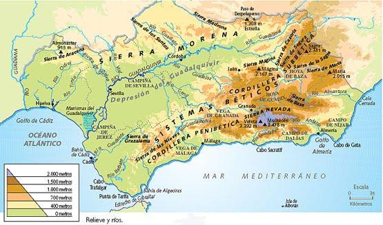 Mapa De Andalucia Politico.Mapas Tanto Politico Como Fisico