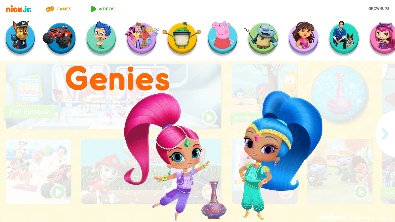 Shimmer and Shine: 'Magical Genie Games' Game Walkthrough ...
