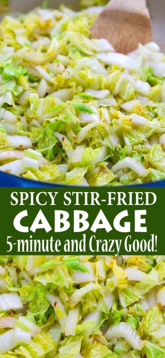 5-Minute Spicy Stir-Fried Cabbage
