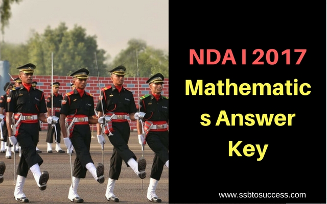 NDA 1 2017 Mathematics Answer Key