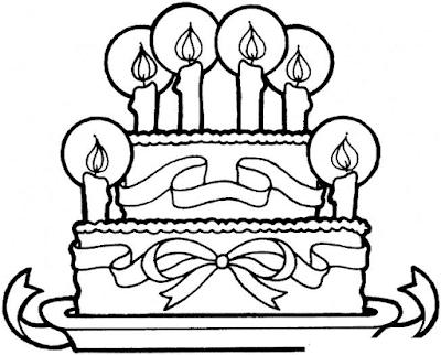 Gambar Mewarnai Kue Ulang Tahun - 18