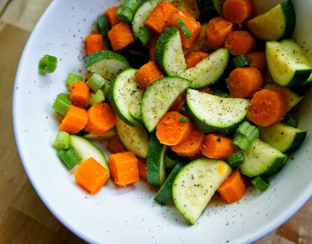 Kid Can Eat!: Buttery Carrots and Zucchini Moons
