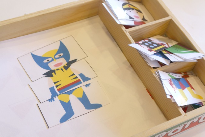printable superhero busy bag puzzle