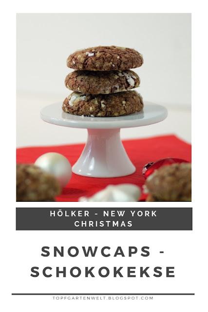 {Buchwerbung} Snowcaps sind feine, schnelle Plätzchen mit viel Schokolade. Perfekt zum Backen für Weihnachten. #weihnachten #topfgartenwelt #keks
