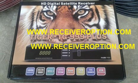 TIGER TG-999 PLUS HD RECEIVER CCCAM OPTION