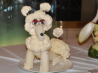dog broccoli vegetables carving pictures