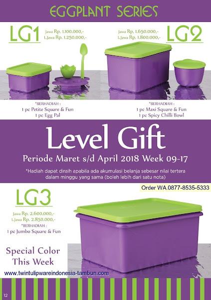 Level Gift Tulipware Maret 2018